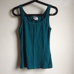 H&M Sleeveless Tank Turquoise Cotton S